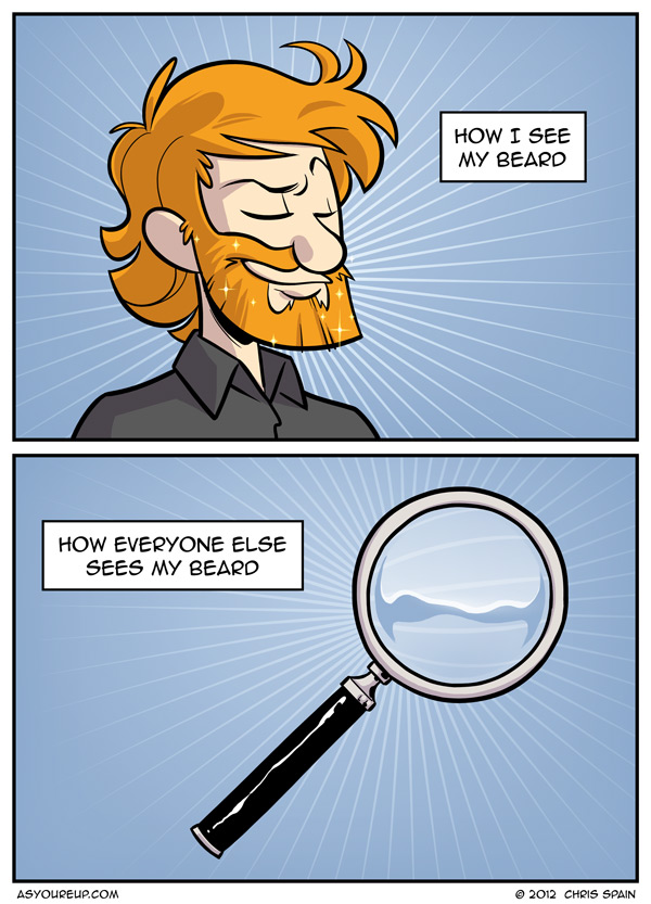 Not quite a great big bushy beard.